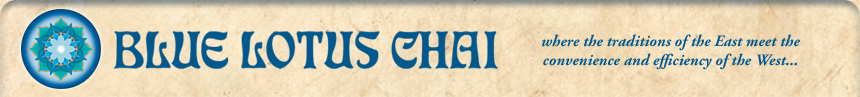 Blue Lotus Chai Banner
