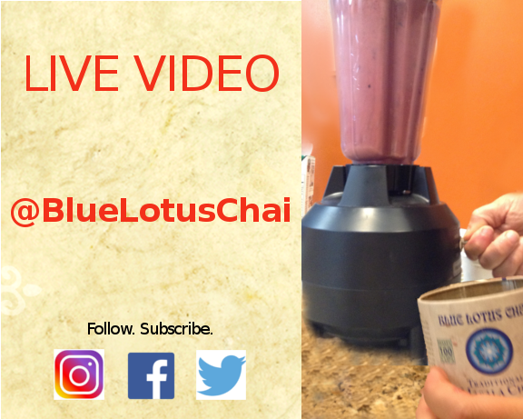 @bluelotuschai for LiVE Feeds of Cooking Classes for Iced Chai Recipes